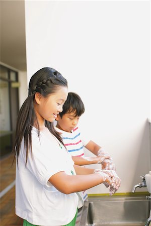 prevention - Children Cleaning Hand Stock Photo - Rights-Managed, Code: 859-03860924
