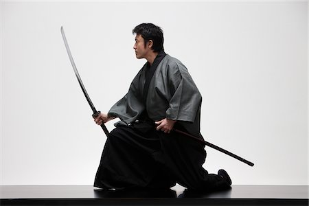 Japanese Samurai Stock Photo - Rights-Managed, Code: 859-03884584