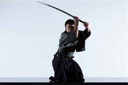 Japanese Samurai Stock Photo - Rights-Managed, Code: 859-03884597
