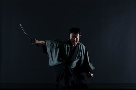 Japanese Samurai Stock Photo - Rights-Managed, Code: 859-03884592