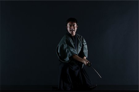 Japanese Samurai Stock Photo - Rights-Managed, Code: 859-03884593