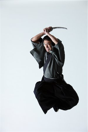 Japanese Samurai Stock Photo - Rights-Managed, Code: 859-03884617