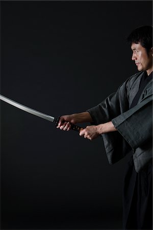 Japanese Samurai Stock Photo - Rights-Managed, Code: 859-03884637