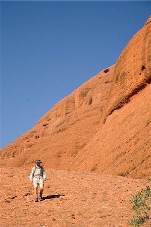 Man hiking at the Olgas,Kata Tjuta,Northern Territory,Australia Stock Photo - Rights-Managed, Code: 851-02958713