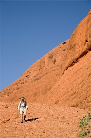 Man hiking at the Olgas,Kata Tjuta,Northern Territory,Australia Stock Photo - Rights-Managed, Code: 851-02958713
