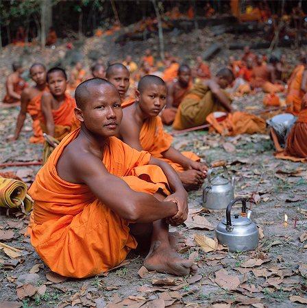 Buddhist Monk,Angkor Wat,Cambodia Stock Photo - Rights-Managed, Code: 851-02958992
