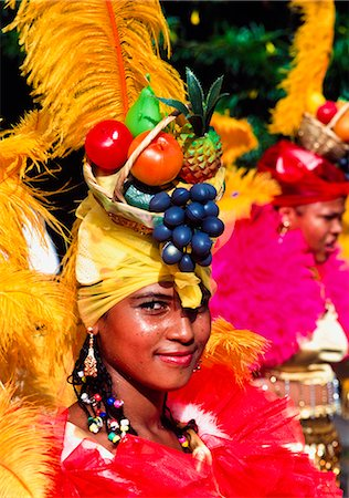 Girl in Carnival costume,Puerta Limon,Costa Rica Stock Photo - Rights-Managed, Code: 851-02959271