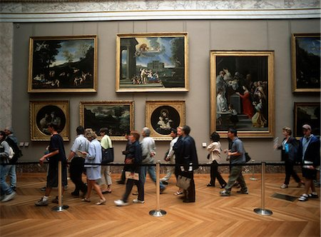 exhibition - Tourists rushing to see Mona Lisa,,Paris,France Stock Photo - Rights-Managed, Code: 851-02959753