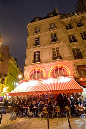 european cafe bar - Busy bar at night in St Germaine,Paris,France Stock Photo - Rights-Managed, Code: 851-02959872