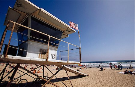 Lifegaurd Station,Venice Beach,Los Angeles,California,USA Stock Photo - Rights-Managed, Code: 851-02964054
