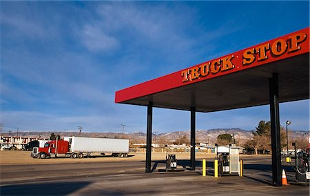 rural gas station - Truck stop (gas/ petrol station),Mojave,California,USA Stock Photo - Rights-Managed, Code: 851-02964063