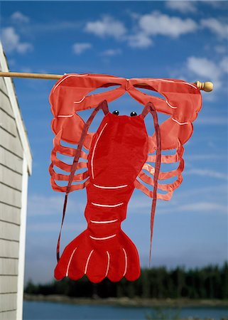 Lobster sign on Maine Coast,USA Stock Photo - Rights-Managed, Code: 851-02964212