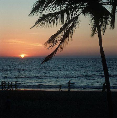 Beach sunset,Goa,India Stock Photo - Rights-Managed, Code: 851-02960331