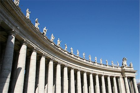 Statues of saints,Piazza San Pietro,The Vatican City,Rome,Italy Stock Photo - Rights-Managed, Code: 851-02960809