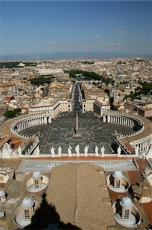 View of Rome from roof of San Pietro,The Vatican City,Rome,Italy Stock Photo - Rights-Managed, Code: 851-02960810