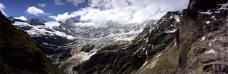panoramic winter scene - Glacial Valley above Grindelwand,Bernese Oberland,Switzerland Stock Photo - Rights-Managed, Code: 851-02962826