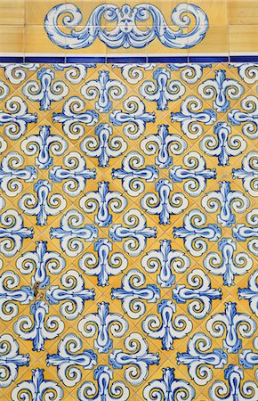 Close-up of ceramic tiled wall,Valencia,Spain Stock Photo - Rights-Managed, Code: 851-02963231