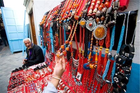Female tourist at jewellery stall,Central Medina / Souq,Tunis,Tunisia,North Africa Stock Photo - Rights-Managed, Code: 851-02963586