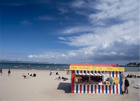 food stalls - Burger Stall on Weymouth Beach,Dorset,England,UK Stock Photo - Rights-Managed, Code: 851-02963753