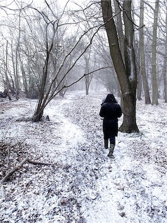 Women walking in forest,winter,Blackmore,Essex,England,UK Stock Photo - Rights-Managed, Code: 851-02963784