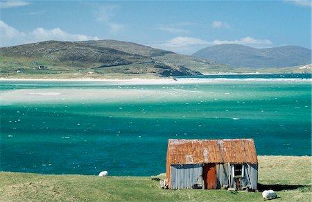 Hut on west coast of Isle of Harris,Losgaintir,Scotland Stock Photo - Rights-Managed, Code: 851-02963923