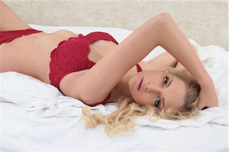 erotic female figures - Young blond woman, portrait Stock Photo - Rights-Managed, Code: 853-05840996