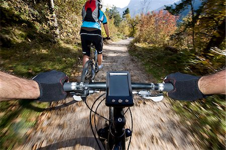 people mountain biking - Two mountainbikers in the Dolomites, South Tyrol, Italy Stock Photo - Rights-Managed, Code: 853-06120444