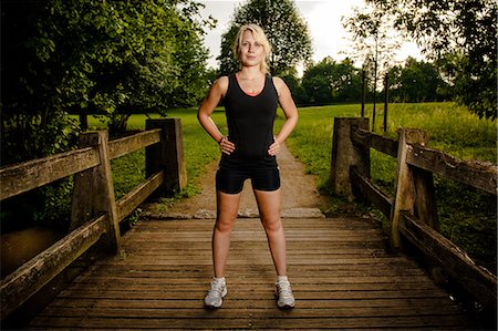 Young woman doing fitness training,Baden-Wuerttemberg, Germany Stock Photo - Rights-Managed, Code: 853-06442041
