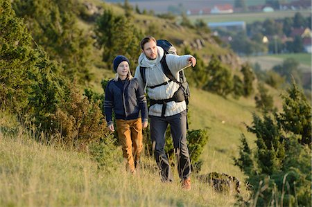Father hiking with son Stock Photo - Rights-Managed, Code: 853-07241916