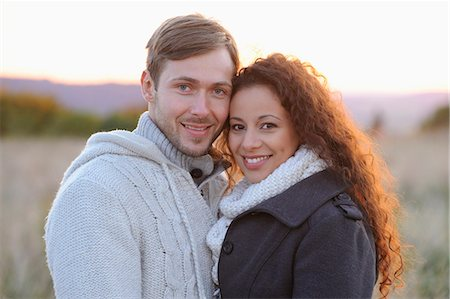 sweater - Smiling couple in autumn, portrait Stock Photo - Rights-Managed, Code: 853-07241910
