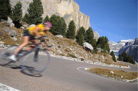 road landscape - Biker, Trentino Alto Adige italy Stock Photo - Rights-Managed, Code: 853-02914249