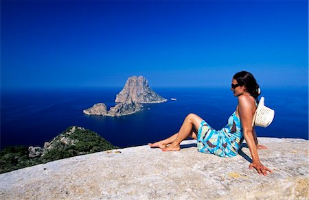 south - woman at Es Vedra, Ibiza, Spain Stock Photo - Rights-Managed, Code: 853-02914470