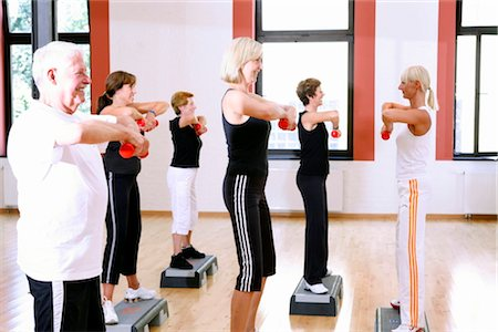 group  doing exercises Stock Photo - Rights-Managed, Code: 853-02913616