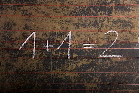 Equation on a black board Stock Photo - Rights-Managed, Code: 853-03616781