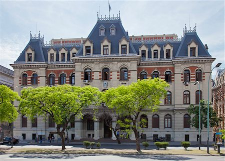 people in argentina - The imposing headquarters of the Ministry of Agriculture, Ganaderia in Buenos Aires. Stock Photo - Rights-Managed, Code: 862-05996671