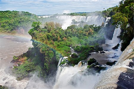 people in argentina - The spectacular Iguazu Falls of the Iguazu National Park, a World Heritage Site. Argentina Stock Photo - Rights-Managed, Code: 862-05996708