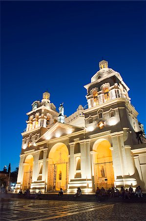 people in argentina - South America, Argentina, Cordoba Cathedral at night Stock Photo - Rights-Managed, Code: 862-05996739