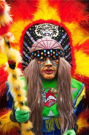 South America, Bolivia, Oruro, Oruro Carnival, Man in costume Stock Photo - Rights-Managed, Code: 862-05997072
