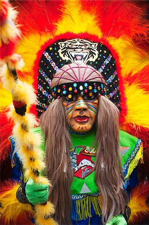 South America, Bolivia, Oruro, Oruro Carnival, Man in costume Stock Photo - Rights-Managed, Code: 862-05997072
