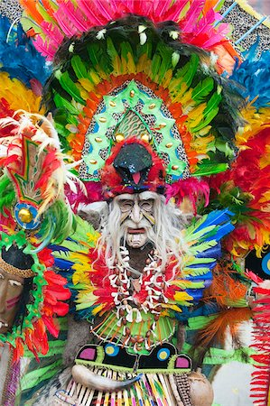 South America, Bolivia, Oruro, Oruro Carnival, Man in costume Stock Photo - Rights-Managed, Code: 862-05997073