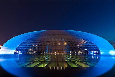 China, Beijing, The National Centre For The Performing Arts, also knon as The Egg. Stock Photo - Rights-Managed, Code: 862-05997259