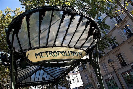 Metrostation Abbesses, Art nouveau, Montmartre, Paris, Ile-de-France, France Stock Photo - Rights-Managed, Code: 862-05997685