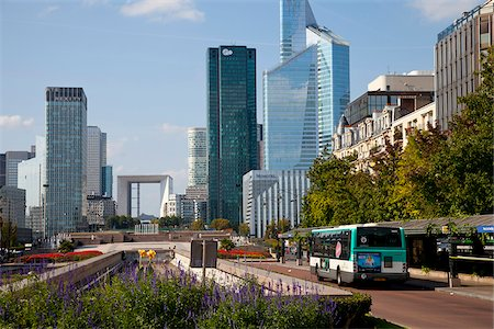 View of La Defense, Paris, Ile de France, France, Europe Stock Photo - Rights-Managed, Code: 862-05997718