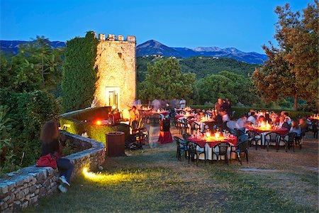 Italy, Lazio, Rieti District, Labro, 'calici sotto le stelle' festival, 'glasses under the stars'. Stock Photo - Rights-Managed, Code: 862-05998039