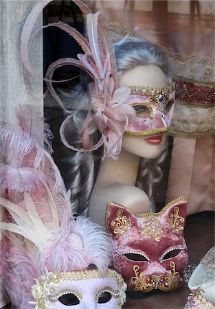 Venetian masks, Venice, Veneto region, Italy Stock Photo - Rights-Managed, Code: 862-05998030