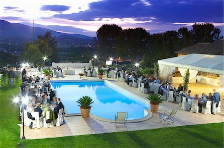 Italy, Umbria, italian wedding banquet. Stock Photo - Rights-Managed, Code: 862-05998095