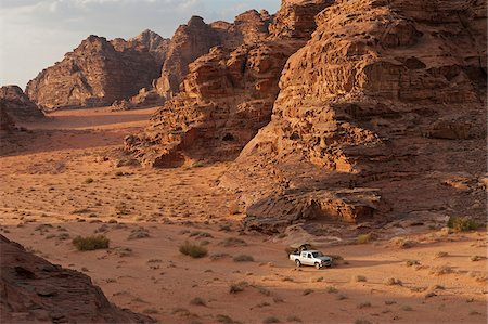 Travelling by jeep in the Wadi Rum, Jordan Stock Photo - Rights-Managed, Code: 862-05998277