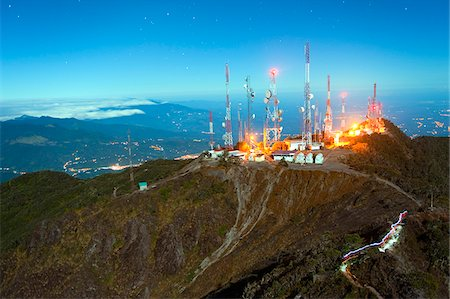 Central America, Panama, Chiriqui province, Volcan Baru National Park; telcom towers on summit of Volcan Baru, (3478m), highest point in Panama, Volcan Baru National Park Stock Photo - Rights-Managed, Code: 862-05998792
