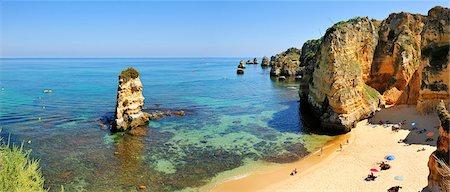 Dona Ana beach. Lagos, Algarve. Portugal Stock Photo - Rights-Managed, Code: 862-05998818