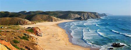 Amado beach, near Carrapateira. Algarve, Portugal Stock Photo - Rights-Managed, Code: 862-05998811